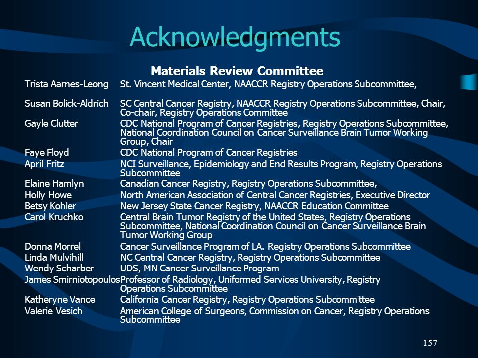 Materials Review Committee