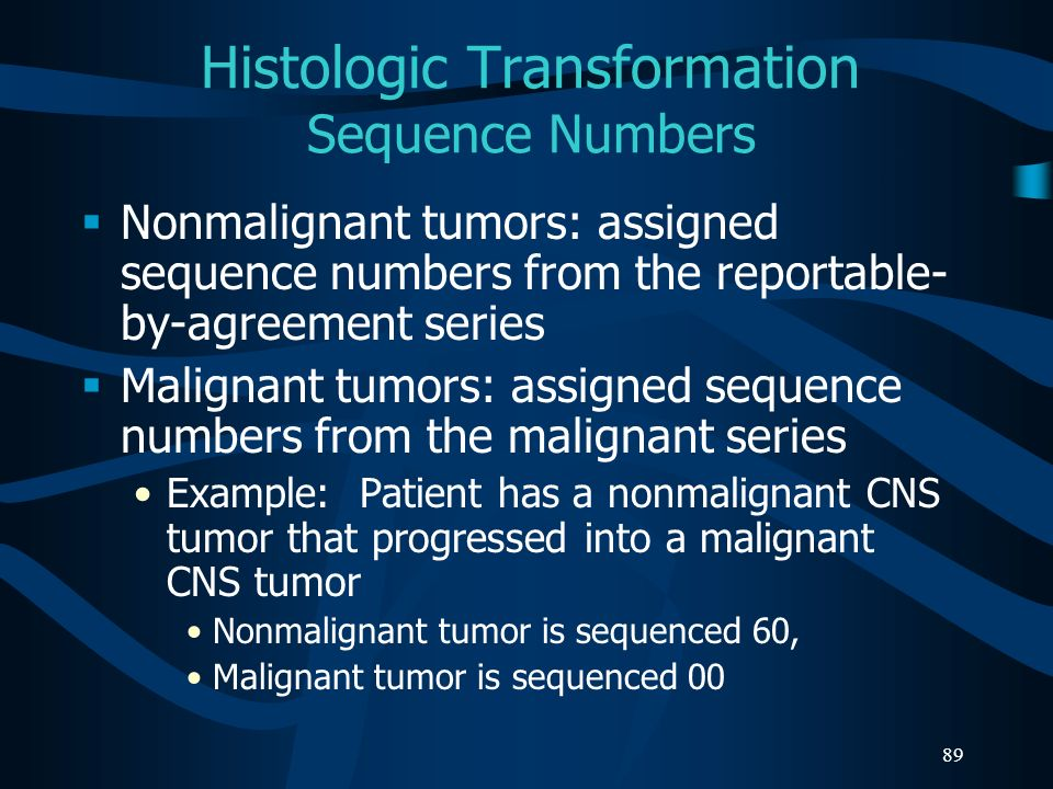 Histologic Transformation Sequence Numbers