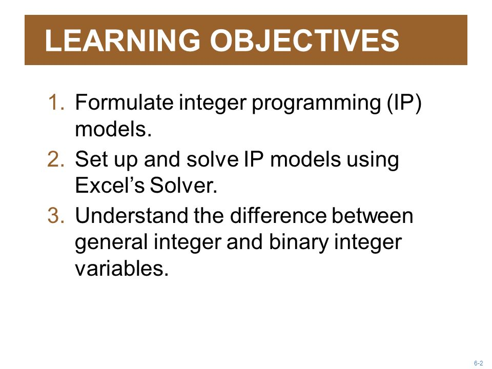 Integer, Goal, and Nonlinear Programming Models - ppt video online