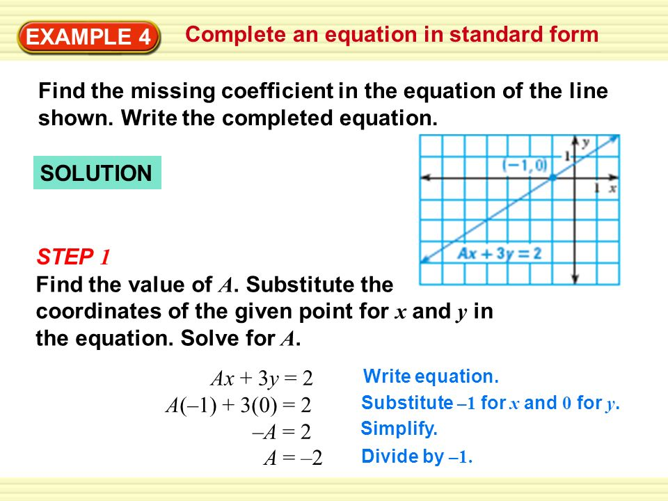 Write Linear Equations In Standard Form Ppt Video Online Download