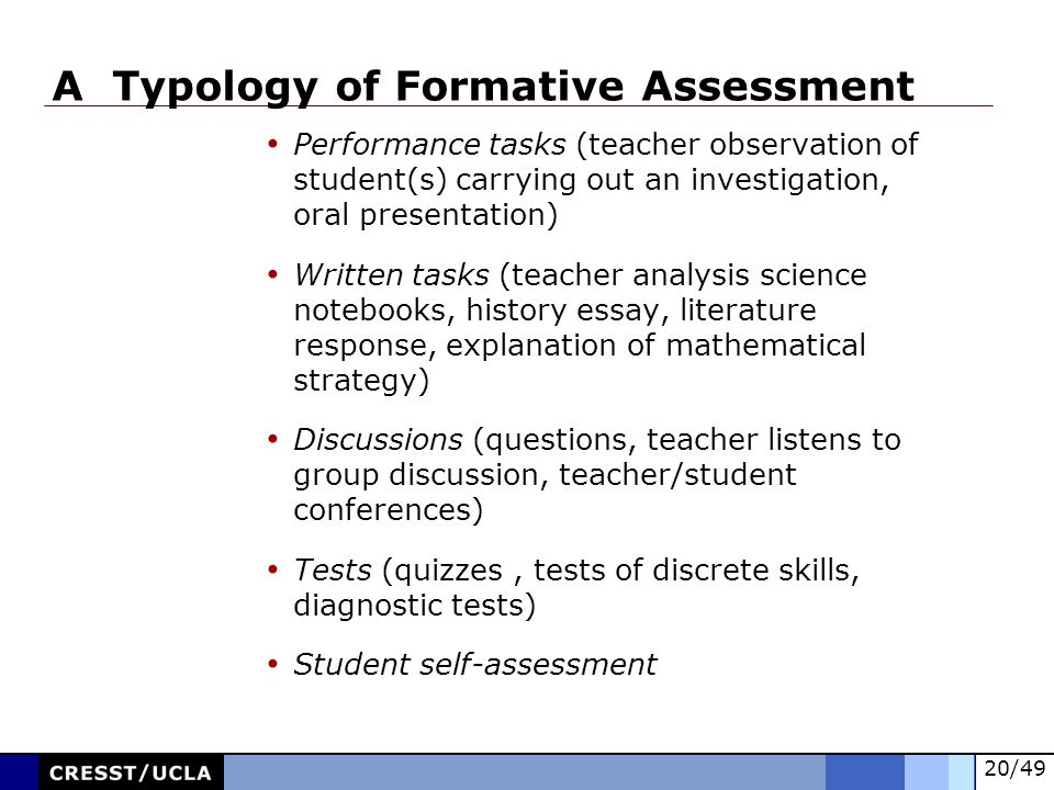 A Typology of Formative Assessment