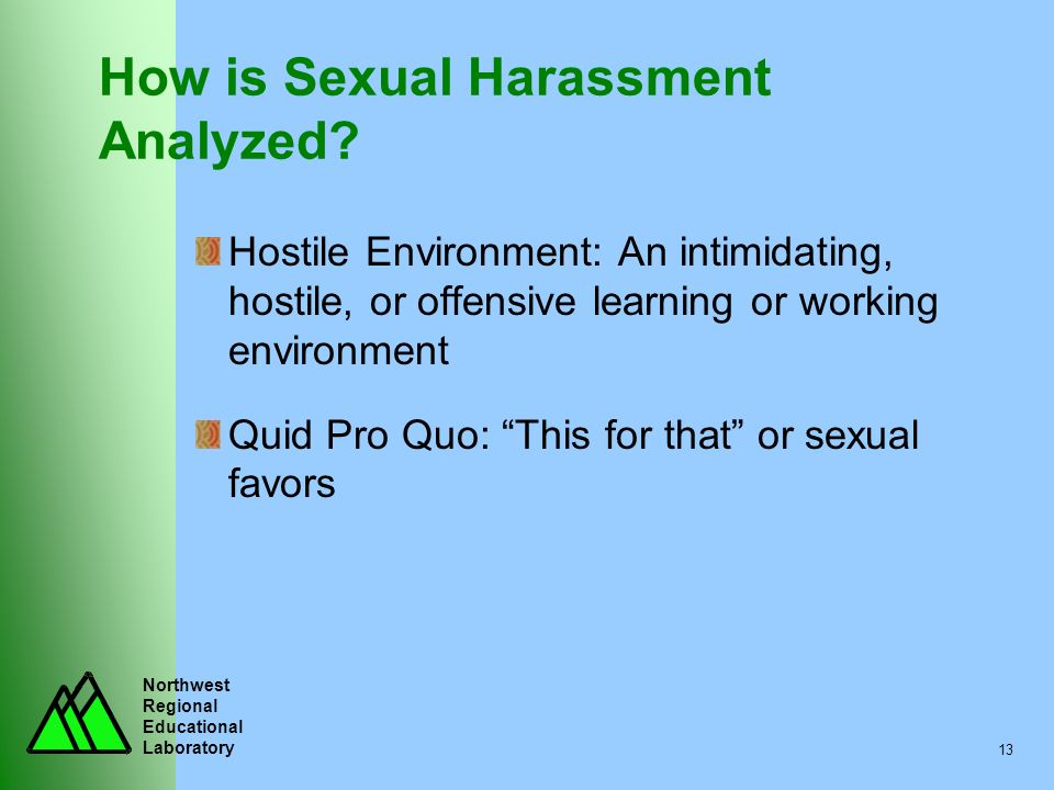 How is Sexual Harassment Analyzed