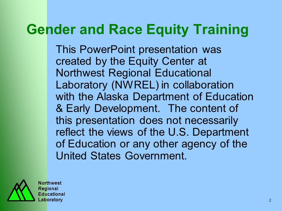 Gender and Race Equity Training