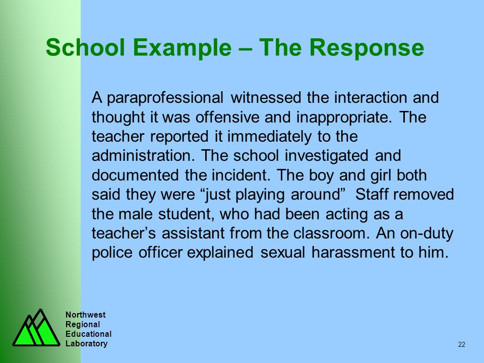 School Example – The Response
