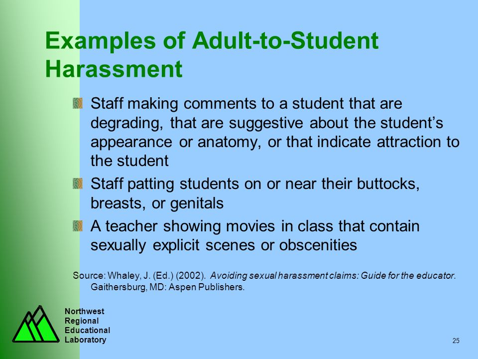 Examples of Adult-to-Student Harassment