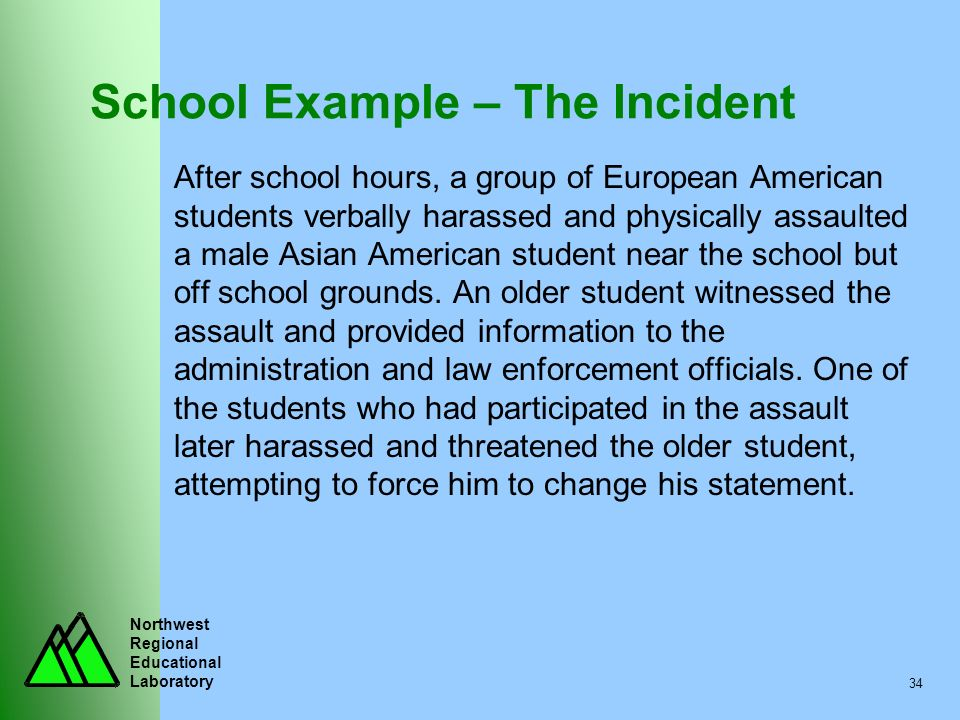 School Example – The Incident