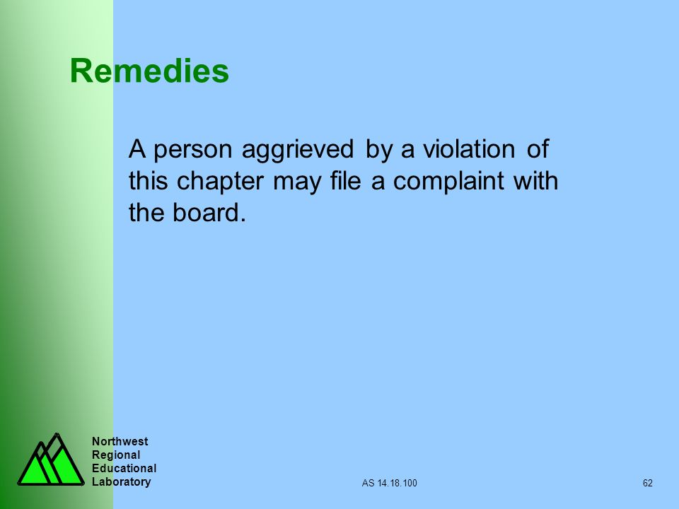 Remedies A person aggrieved by a violation of this chapter may file a complaint with the board.