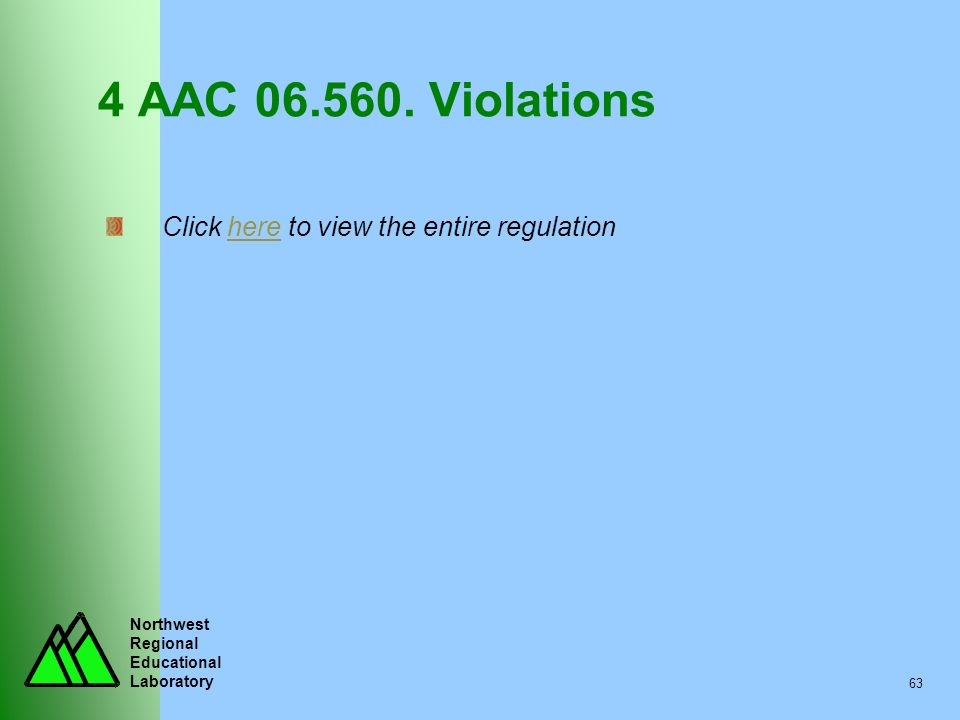 4 AAC 06.560. Violations Click here to view the entire regulation