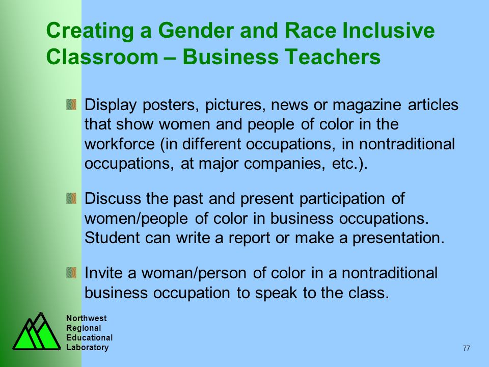 Creating a Gender and Race Inclusive Classroom – Business Teachers