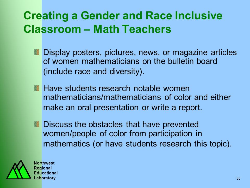 Creating a Gender and Race Inclusive Classroom – Math Teachers