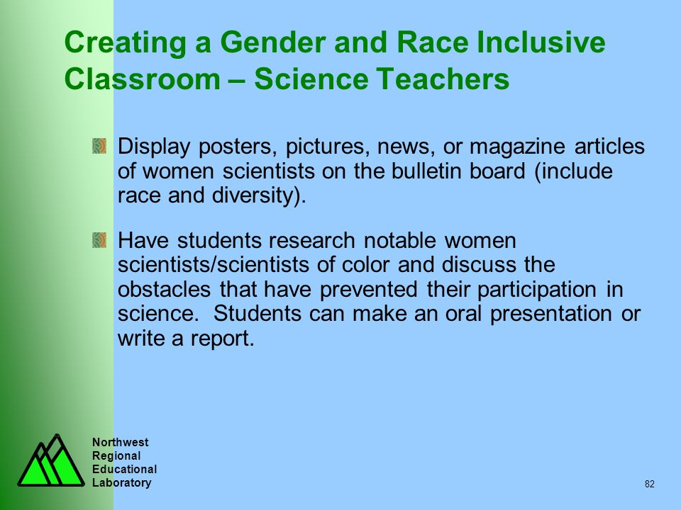 Creating a Gender and Race Inclusive Classroom – Science Teachers