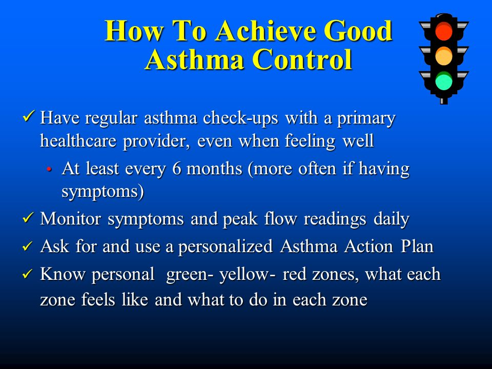 How To Achieve Good Asthma Control