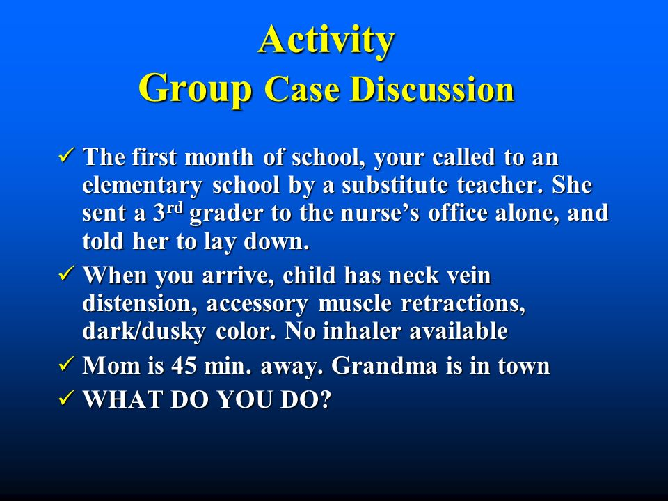 Activity Group Case Discussion