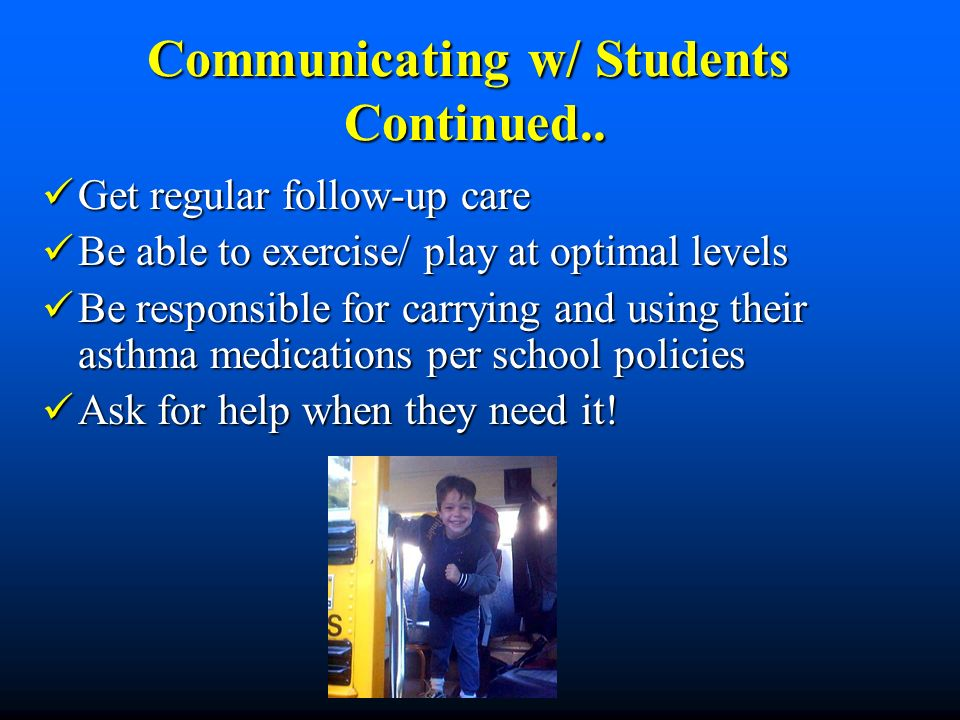 Communicating w/ Students Continued..