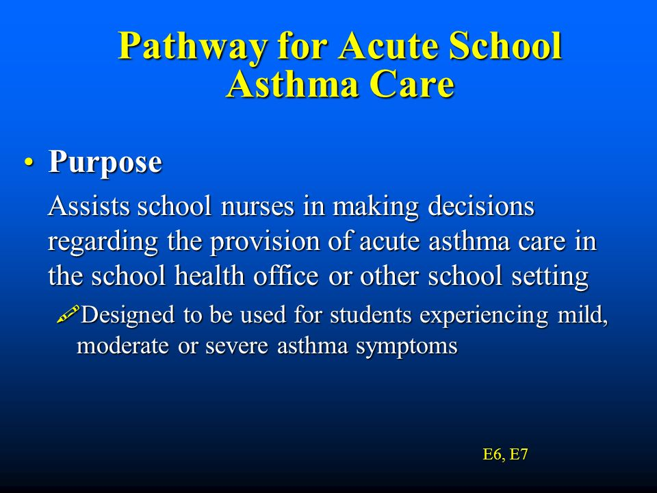 Pathway for Acute School Asthma Care