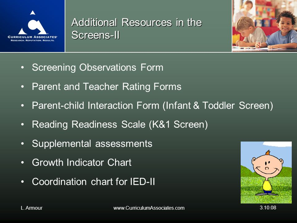 Additional Resources in the Screens-II