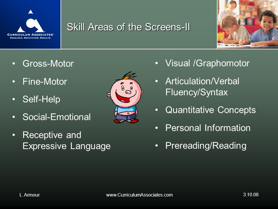 Skill Areas of the Screens-II