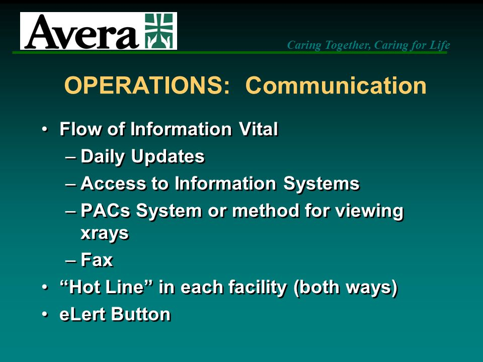 OPERATIONS: Communication