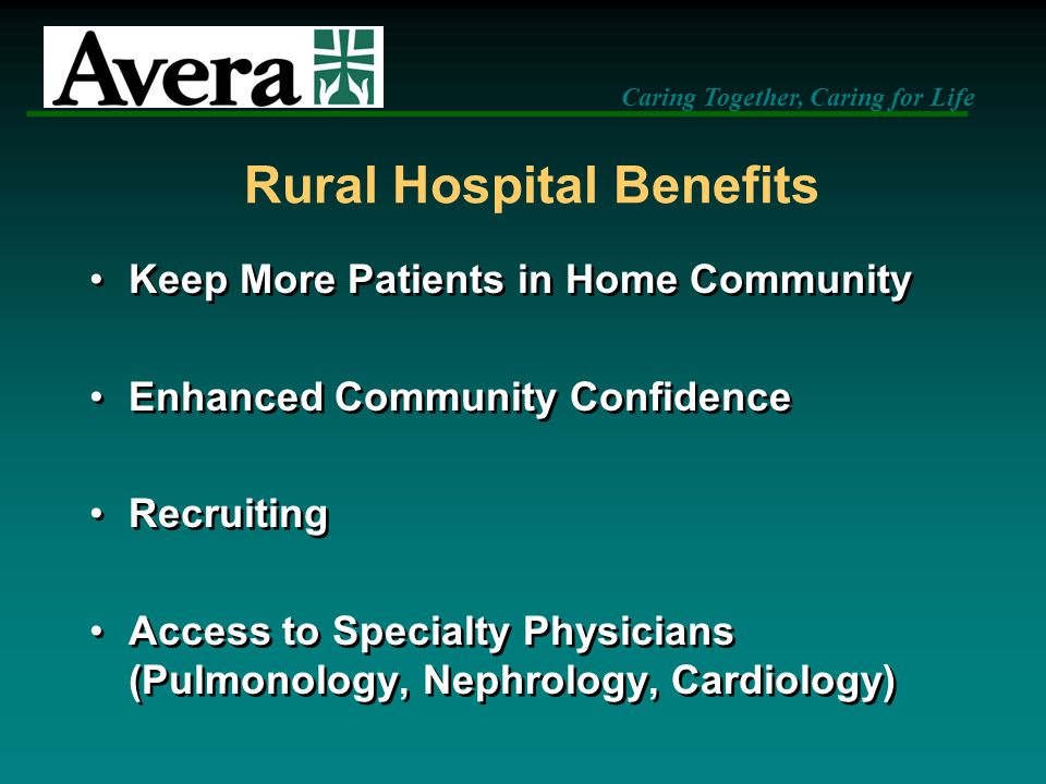 Rural Hospital Benefits