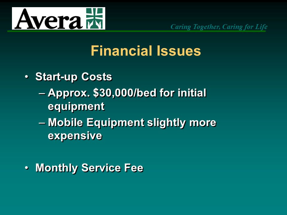 Financial Issues Start-up Costs