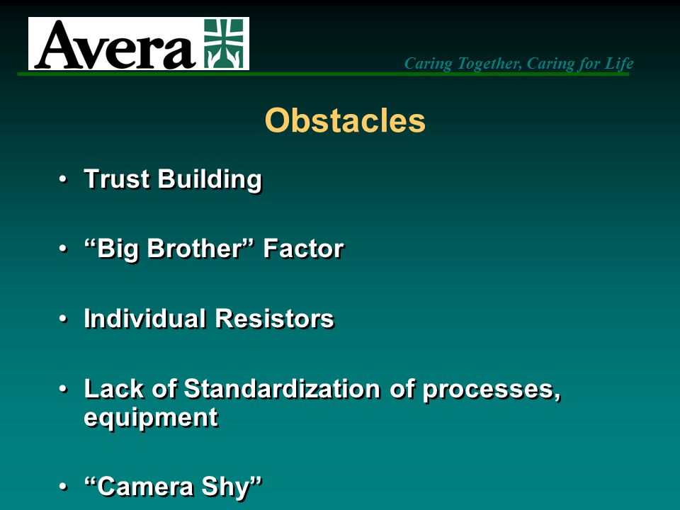 Obstacles Trust Building Big Brother Factor Individual Resistors