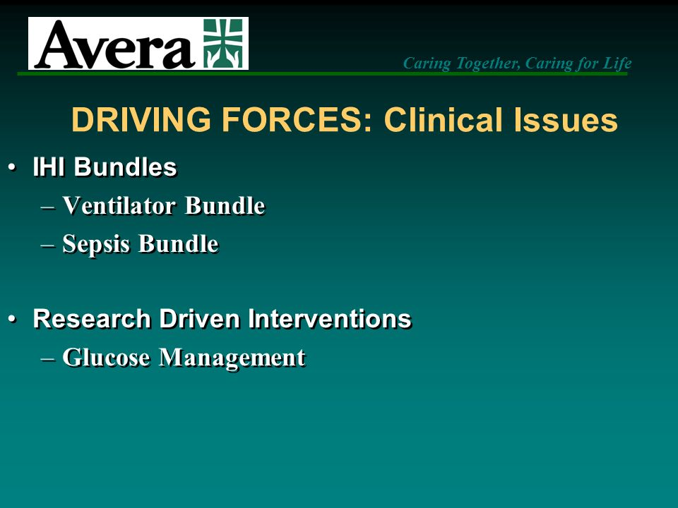 DRIVING FORCES: Clinical Issues