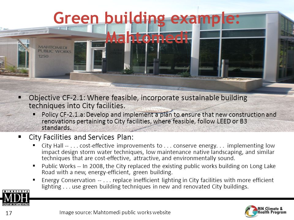 Green building example: Mahtomedi