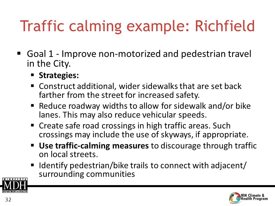 Traffic calming example: Richfield