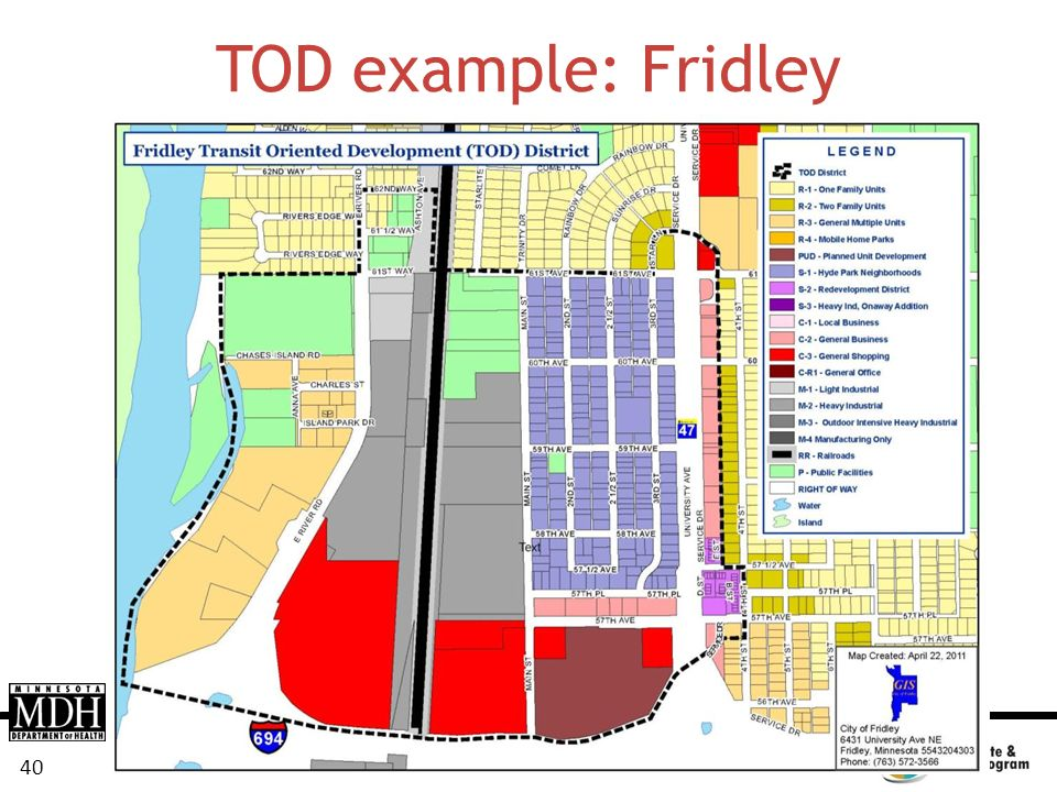 TOD example: Fridley
