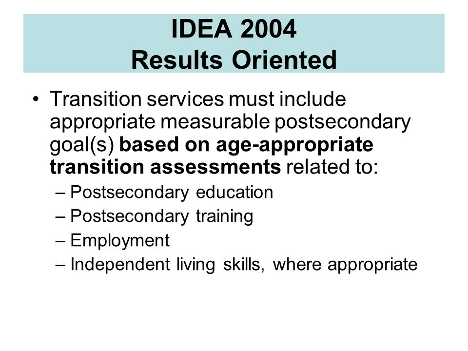 IDEA 2004 Results Oriented