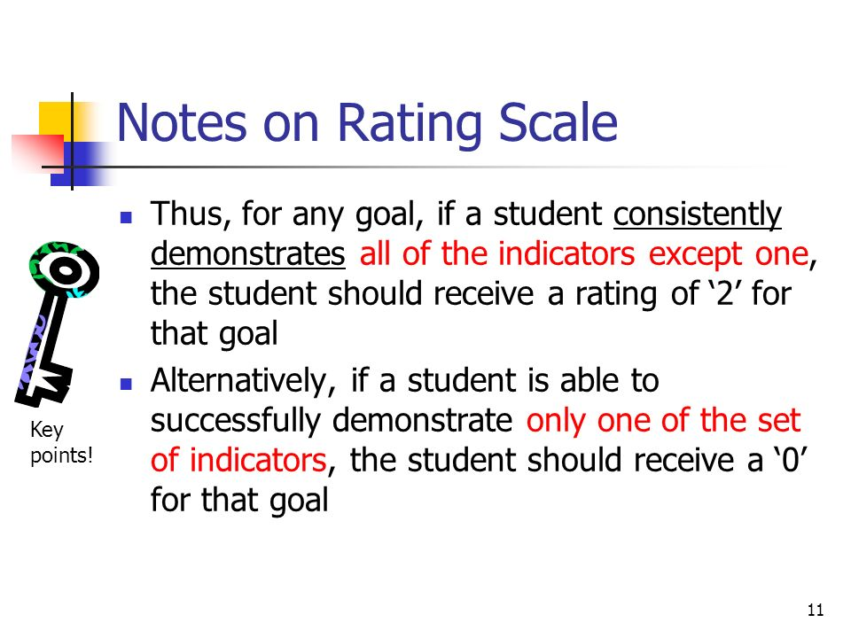 Notes on Rating Scale