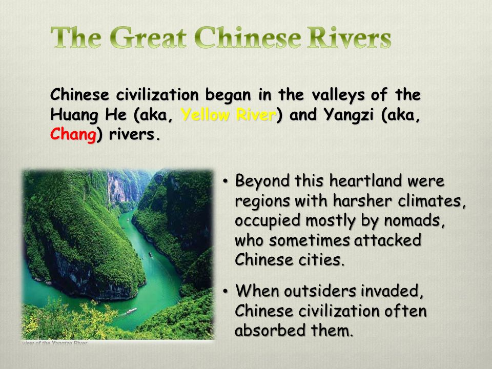 The Great Chinese Rivers