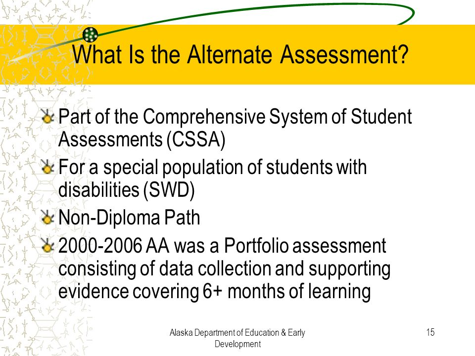 What Is the Alternate Assessment