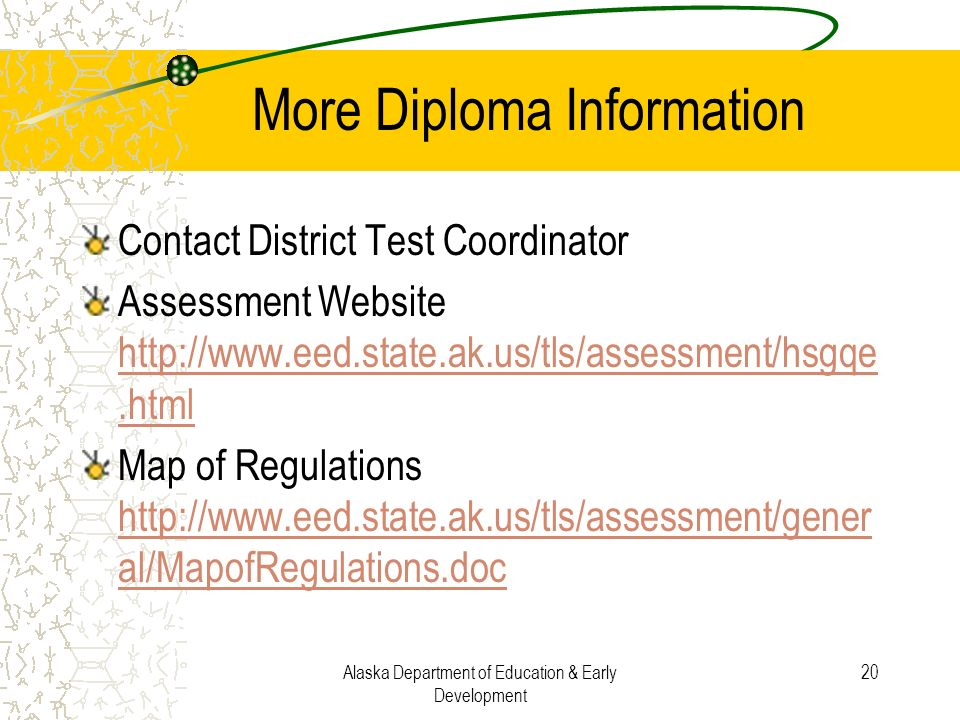 More Diploma Information
