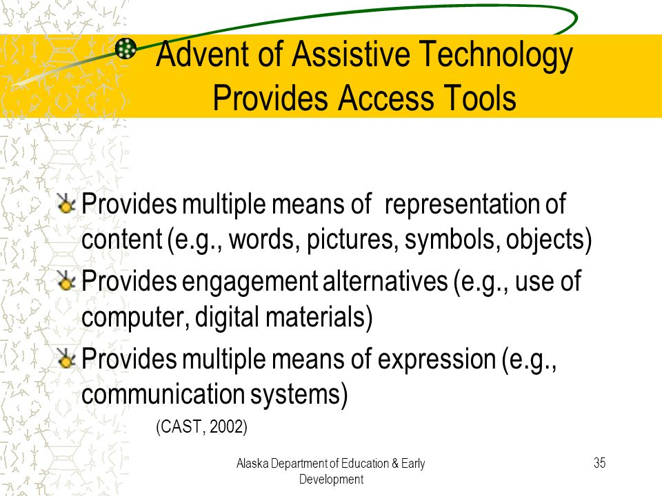 Advent of Assistive Technology Provides Access Tools