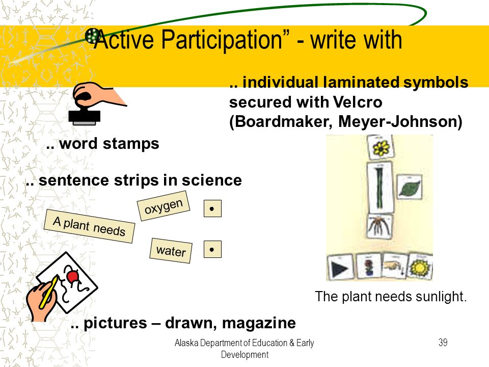 Active Participation - write with