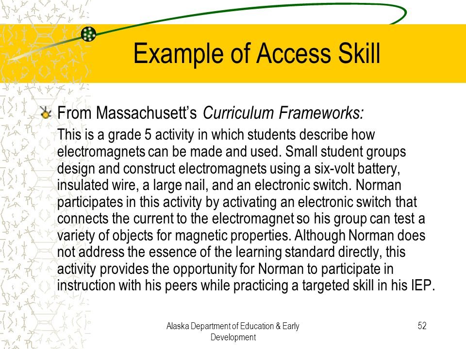 Example of Access Skill