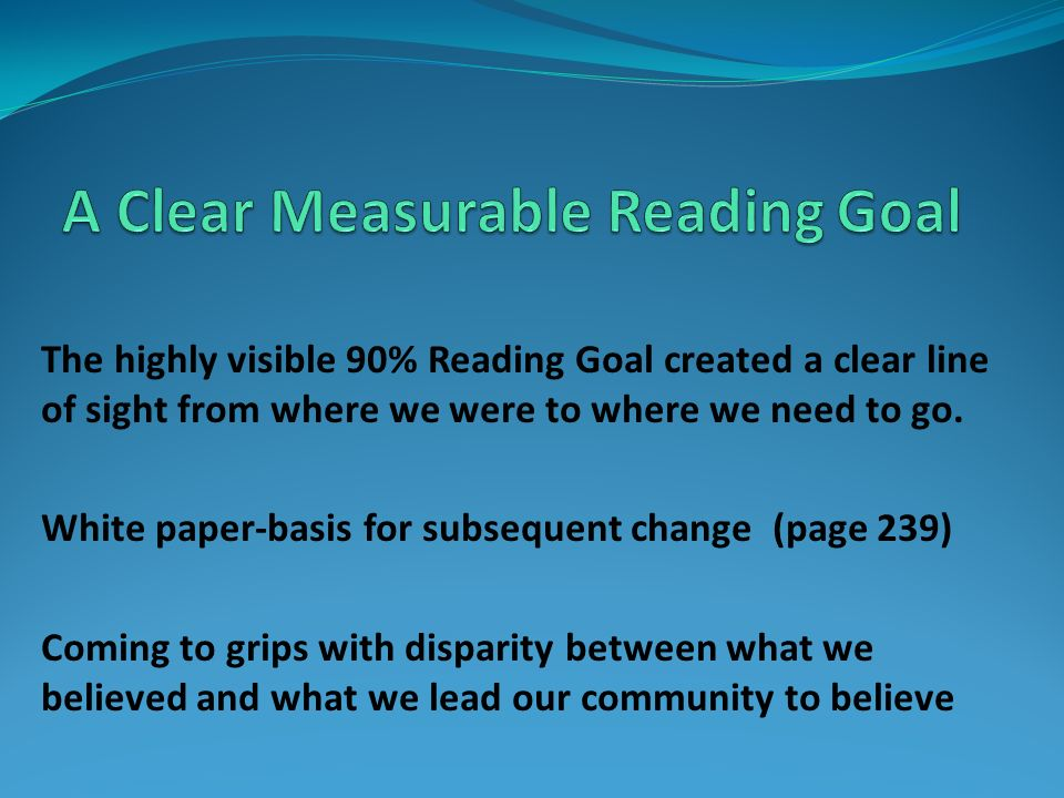 A Clear Measurable Reading Goal