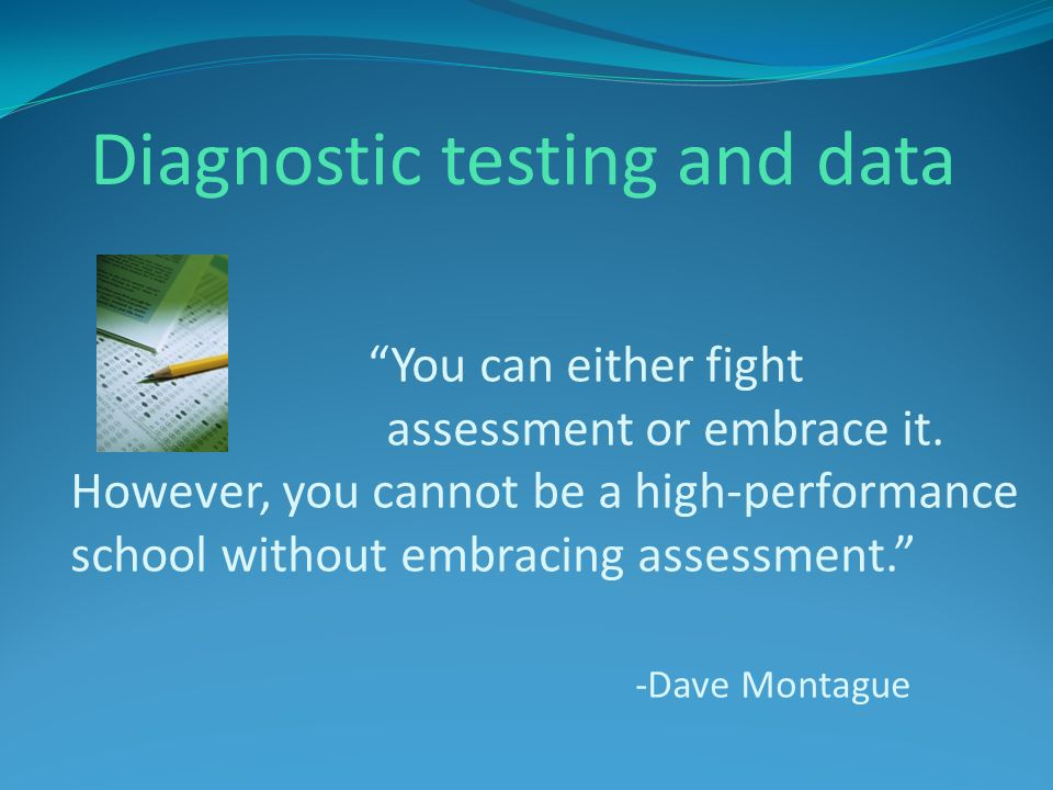 Diagnostic testing and data
