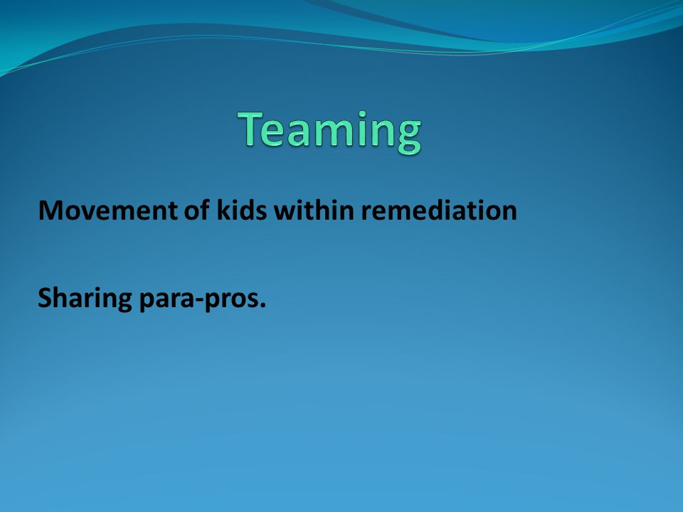 Teaming Movement of kids within remediation Sharing para-pros.