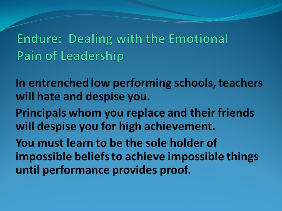 Endure: Dealing with the Emotional Pain of Leadership