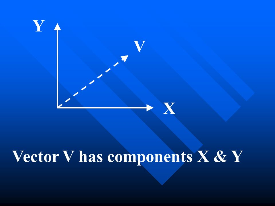 Y V X Vector V has components X & Y
