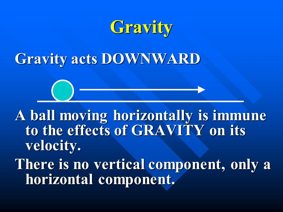 Gravity Gravity acts DOWNWARD