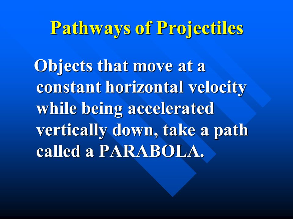 Pathways of Projectiles