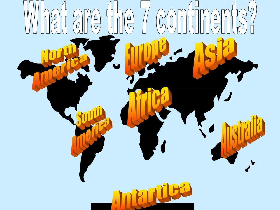 What are the 7 continents