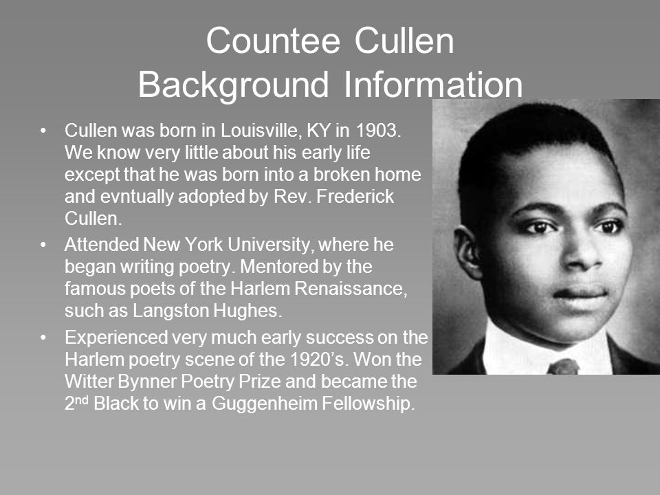 Countee Cullen Background Information