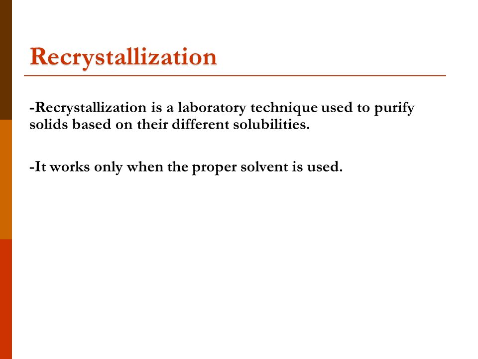 recrystallization lab report