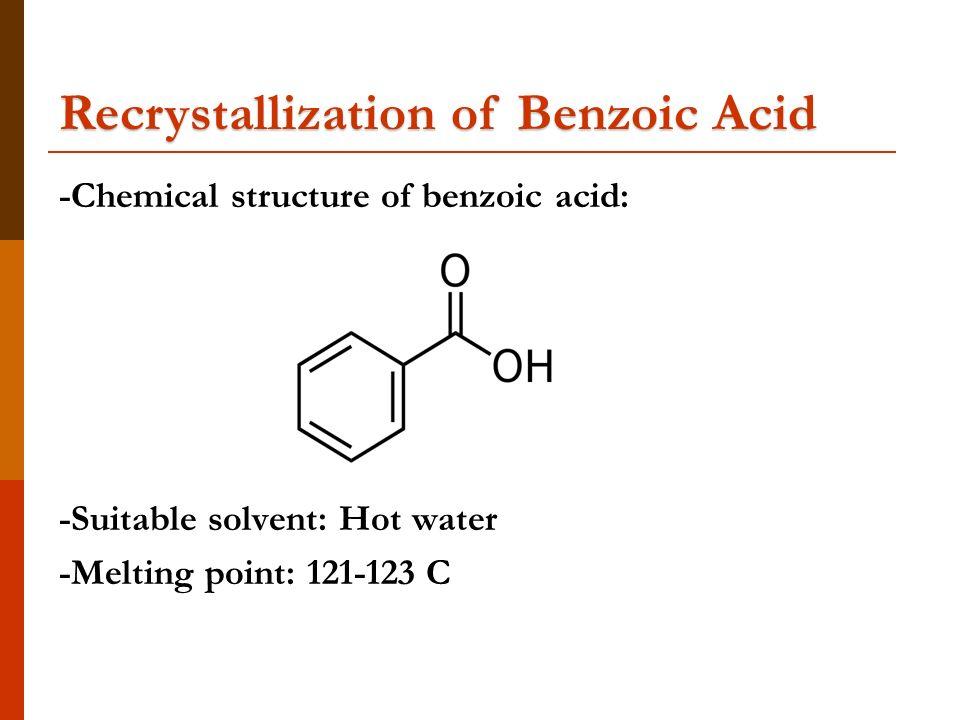 melting point of impure benzoic acid