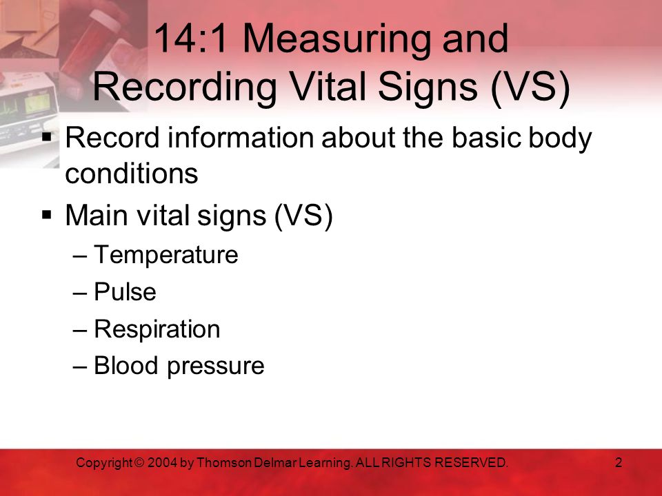Unit 14 Vital Signs Ppt Download