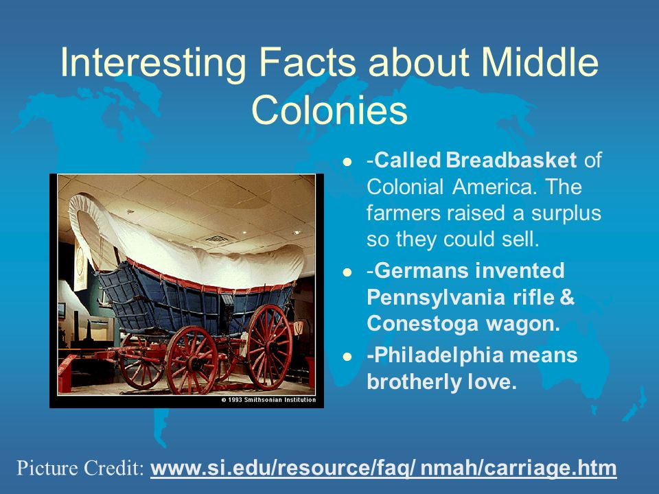 Interesting Facts about Middle Colonies
